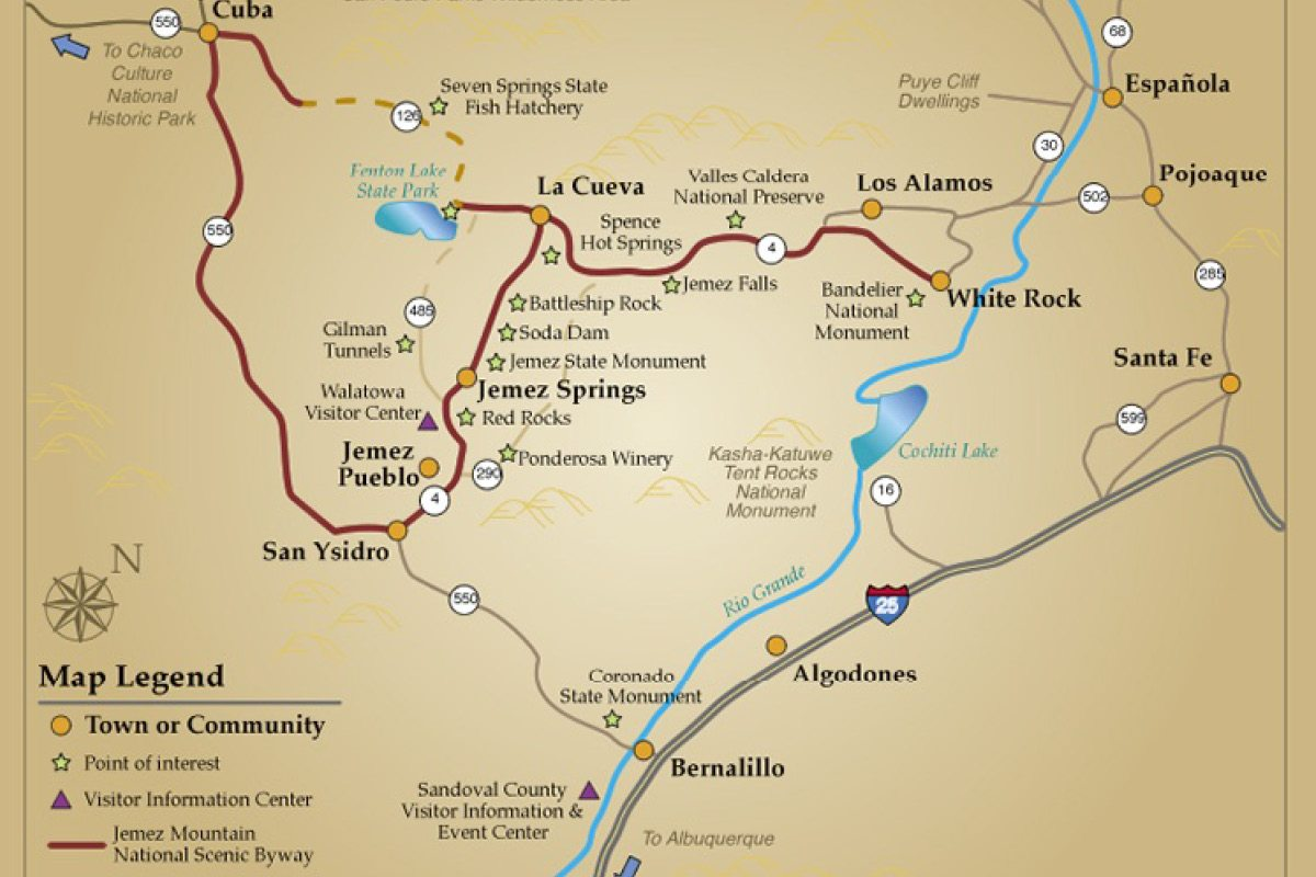 Hot Springs In New Mexico Map Maps | Jemez Springs